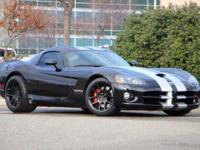Viper SRT10, 8.3L V10 SFI, 6-Speed Manual, RWD, and
