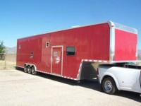 Nice 40 foot fifth wheel enclosed car hauler by