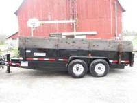 "2006 Felling dump trailer, 16' long x 80"" inside box"