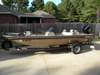 2006 Fisher 17 foot aluminum bass boat with fuel