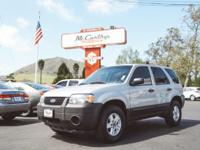 Options:  2006 Ford Escape Xls|Silver 2006 Ford Escape