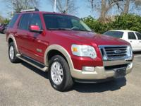CARFAX One-Owner. Red Metallic 2006 Ford Explorer Eddie