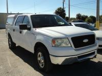 2006 FORD F-150 SUPERCREW XLT 4WD. WHITE. GRAY CLOTH