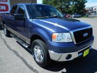 4 Wheel Drive.. This Blue 2006 Ford F-150 SuperCrew is