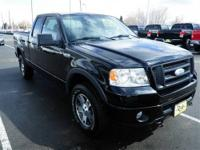 4 Wheel Drive* This Black 2006 Ford F-150 is powered by