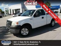 Clean CARFAX. This 2006 Ford F-150 XL in White