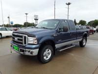 Blue 2006 Ford F-250SD XLT 4WD 6-Speed Manual with