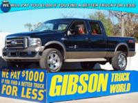 WWW.GIBSONTRUCKWORLD.COM 2006 Ford F350 King Ranch Crew