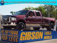 WWW.GIBSONTRUCKWORLD.COM*2006 Ford F350 King Ranch FX4