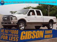 WWW.GIBSONTRUCKWORLD.COM 2006 Ford F350 King Ranch FX4