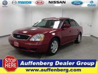 2006 Ford Five Hundred SE Maroon. Don't wait another