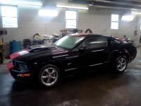 Mustang GT - $14000 Black with Red Racing Stripes, with