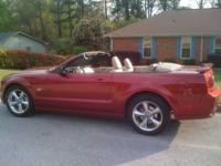 2006 Ford Mustang GT Convertible - Red with Tan Leather