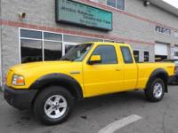 4X4 Sport model in a great color! This 2006 Ford Ranger