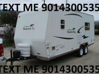 travel trailer with 2 slideouts- living room /dining