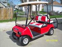 2006 4 SEAT GAS CLUB CAR GOLF CART. THIS HAS A NEW