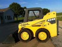2006 Gehl 4240E skid steer loader only 762 hours just