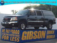 WWW.GIBSONTRUCKWORLD.COM*2006 GMC Sierra 2500 SLT Crew