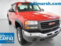 Sierra 2500HD Work Truck, 4WD, Red, Air Conditioning,