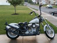 Beautiful custom harley softail chopper/BOBBER. MY