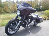 This is a 2006 FLHTP Harley Davidson Police bike. It's