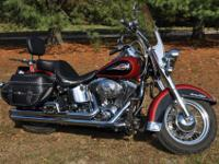 2006 Harley Davidson Heritage Classic with low mileage.