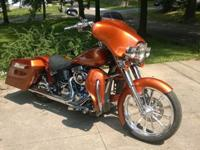 UP FOR SALE IS MY 2006 SOFTAIL IN TOURING PLATFORM. THE