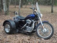 2006 Sportster 1200C Trike. New Front Tire and Battery.