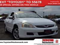CARFAX One-Owner. Taffeta White 2006 Honda Accord EX
