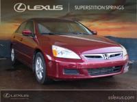 Leather.  2006 Honda Accord EX-L 2.4L I4 DOHC i-VTEC