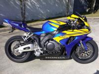 I currently have a 2006 Honda CBR 1000 RR for sale.