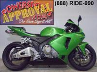 2006 Honda CBR600RR. This bike has it all. Fender