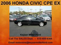 SPORTY! This 2006 HONDA CIVIC CPE EX comes to you with