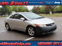 Civic EX, 2D Coupe, 1.8L I4 SOHC 16V i-VTEC, Automatic,