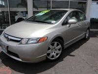 Clean CARFAX. Shoreline Mist Metallic 2006 Honda Civic