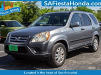 Clean CARFAX. Gray 2006 Honda CR-V EX FWD 5-Speed