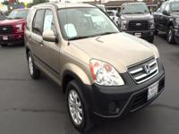 Come test drive this 2006 Honda CR-V! Very clean and
