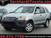 We are happy to offer you this *1-OWNER 2006 HONDA CR-V