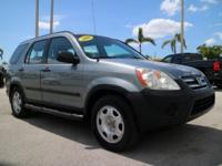 2006 Honda CR-V LX Alabaster Silver Odometer is 10473