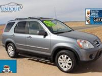 Come check out this spectacular Honda CRV suv. Honda- a
