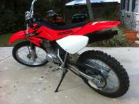 For sale is a like new 2006 Honda crf100f. When it