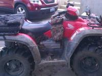 I have a 2006 Honda foreman 500 4x4 I am wanting to