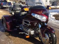 2006 Honda GL1800 Gold Wing Trike with Trailer. Must