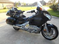 Original owner, black/chrome, Goldwing. One small