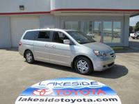 Only one owner! Silver Bullet! This 2006 Odyssey is for