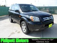 Options Included: N/A2006 Honda Pilot, black with gray