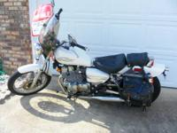 I have a white, 2006 Honda Rebel motorcycle, 250cc.