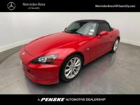 ULTRA LOW MILES! This 2006 Honda S2000 is in immaculate