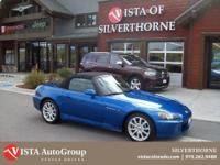 This 2006 Honda S2000 has a clean Carfax and is Vista