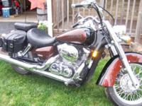Have to offer my 2006 Honda Shadow Aero VT750. It is